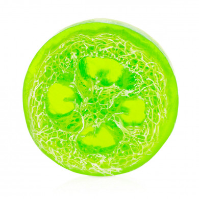 Apple loofah soap