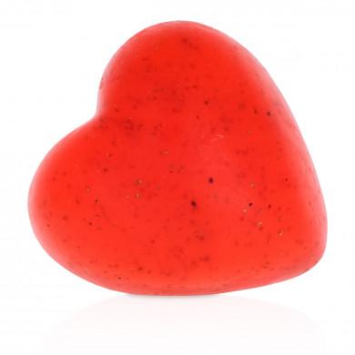 Heart-shaped strawberry soap